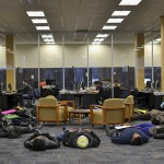 "Towson University students and faculty participated in a ""die in"" protest on Dec. 12. Abby Murphy/ The Towerlight"