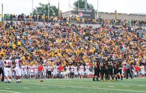 The Towson University and Saint Francis University game on Saturday, Sept. 12.