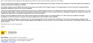The full text of the statement, released April 7, by TU.