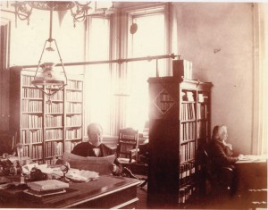Courtesy of Towson University Special Collections and Archives McFadden Alexander Newell, the first principal of the State Normal School, sits in the principal's office in 1887.