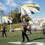 The Towson Color Guard during the homecoming game. Photo by Joe Noyes.