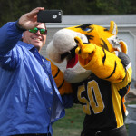 Doc the Tiger takes a selfie. Photo by Joe Noyes.