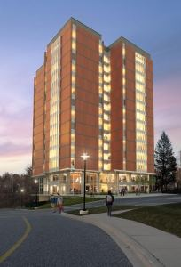 What the renovations to Residence Tower will look like. Courtesy of Towson University.