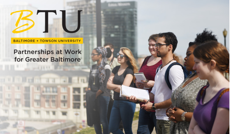 A promotional image for BTU. Courtesy of Towson University.