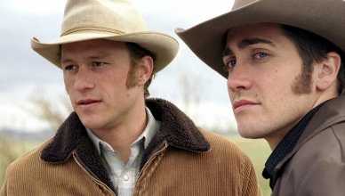 BROKEBACK MOUNTAIN (2005) HEATH LEDGER, JAKE GYLLENHAAL BRBA 001 - AK